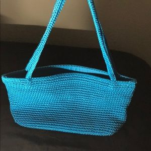 """The Sak"" blue mini woven bag"